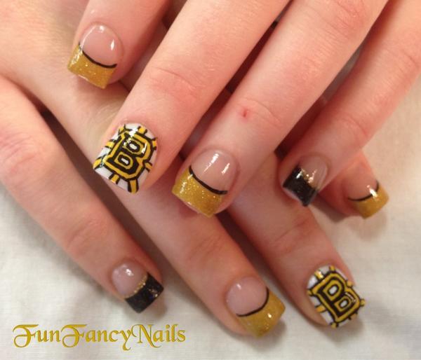Danalynn On Twitter Nhlbruins Nail Art Done For A Fan Free Hand