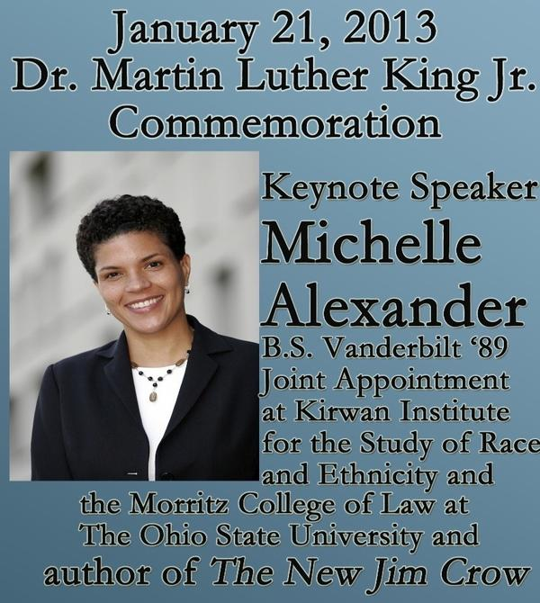 Looking fwd to Vandy alum Prof Michelle Alexander delivering the keynote address at Vanderbilt's MLK Commemoration. http://pic.twitter.com/TDcdfcaf