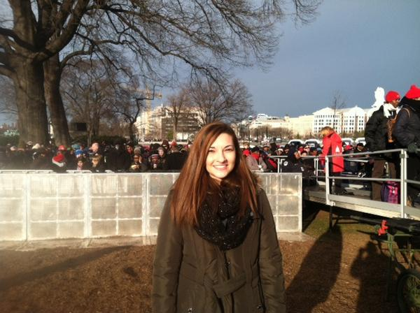 Melanie Mager hopes the president keeps his promise to achieve comprehensive #immigration reform. #inaug2013 http://pic.twitter.com/yEMF9Gyv