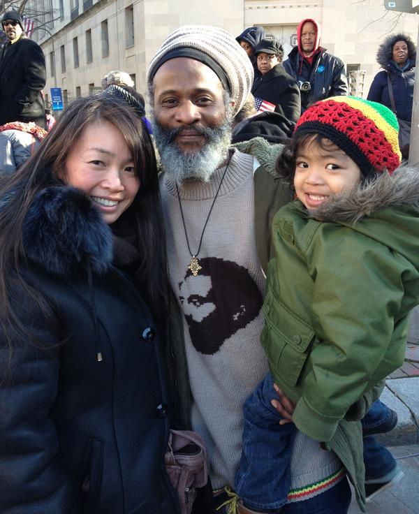 """""""We missed the parade last time and didn't want to miss it this time. Now our son is here to watch.""""—The Kirklands, NJ http://t.co/Y1ehTQct"""