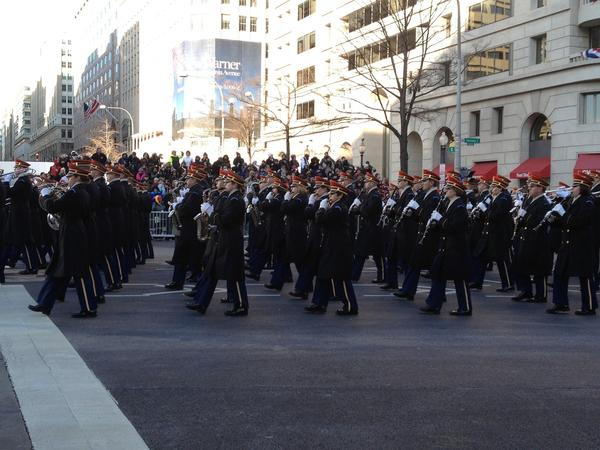 The Army marching band is joining the President and First Lady in the #inaug2013 parade: http://t.co/Qryqsr7z