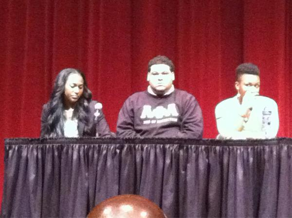 @Vandy_AKAs: our own Brianna Hawkins & @KT_Alphas Michael McGee representing on the MLK Panel today in Sarratt Cinema! http://pic.twitter.com/2lrgbXVo