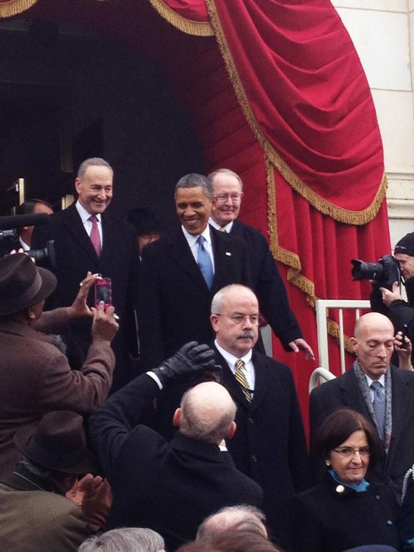An inspiring speech today by President Obama. I grabbed this photo as he was announced #inaug2013 http://pic.twitter.com/pujRsi1H