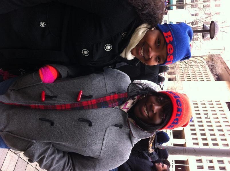 """Why Whitney and Kisha came to the parade: """"we want to see the Obamas go by and be part of history—for the second time."""" http://t.co/azuoBp2r"""