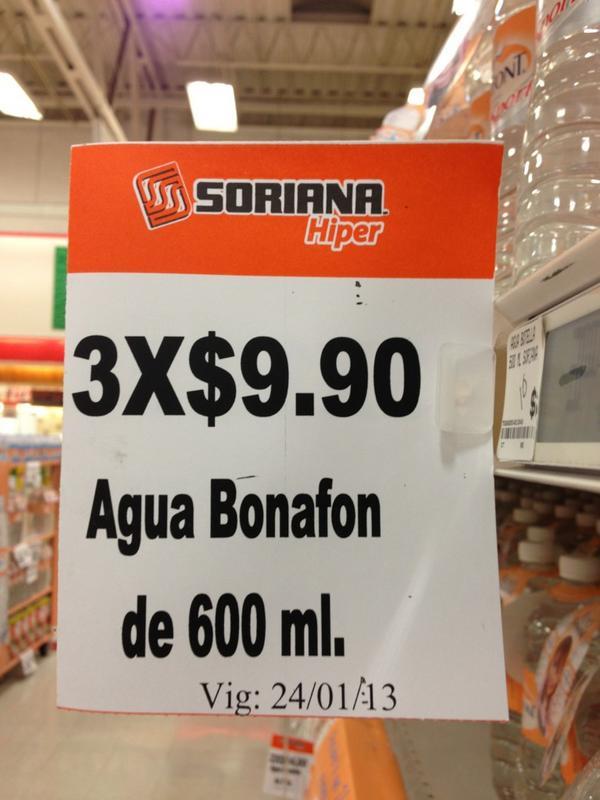 Así es! Agua BonafoNN jajaja #ineptos #soriana http://t.co/MFImusZy