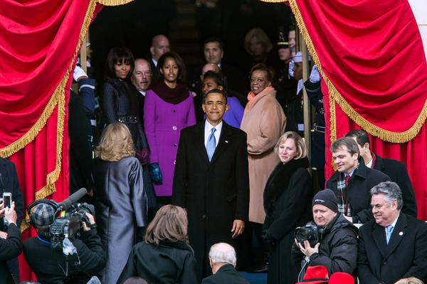 """""""I want to take a look one more time""""-President Obama looks back at the crowd following the #inaug2013 ceremony: http://t.co/p0HoojP1"""