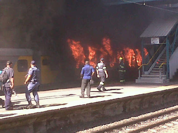 """Image result for NEWS Lucknow Mail set fire to AC coach – passengers jumped from bogie and saved their lives"""""""