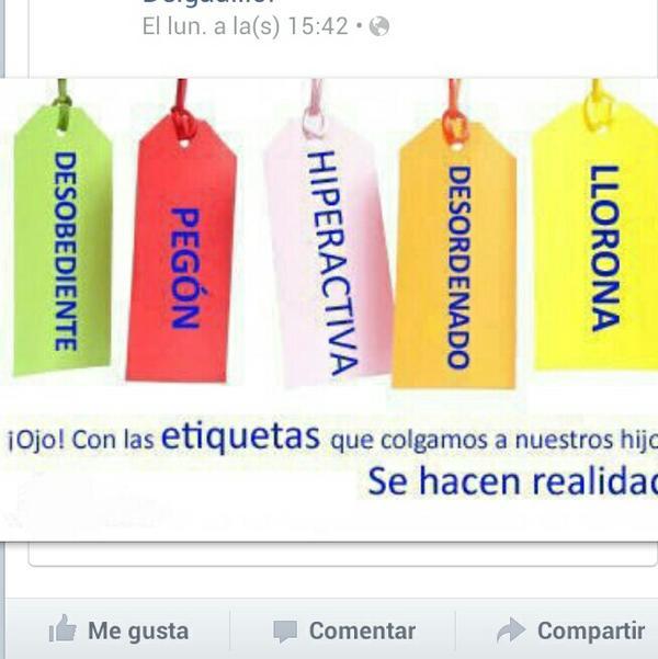 """@fjmontero (docente y padre): """"Ojo con las etiquetas que colgamos a nuestros hij@s o alumn@s,se hacen realidad"""" http://t.co/C4uKm67I"""
