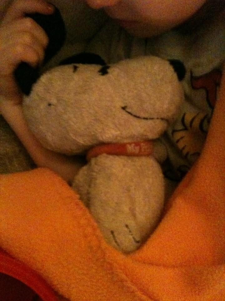 IMAGE Olena and Snoopy, recovering