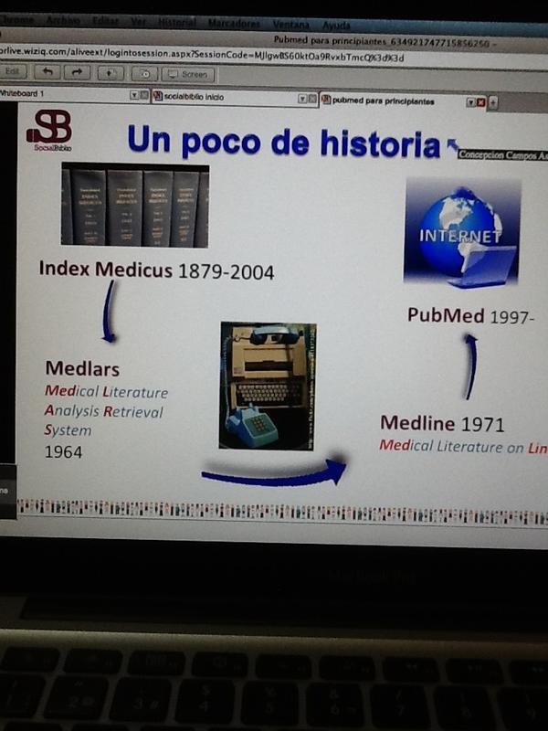 #socialbiblio un poco de historia: de Índex Medicus -> Medlars -> Medline -> Pubmed http://pic.twitter.com/qC4Yu9Kp