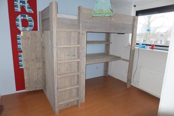 Hoogslaper Met Kasten Eronder : Zon steigerhout meubels steigerhout hoogslaper mark