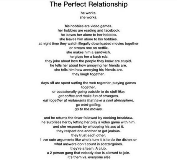 The perfect relationship?