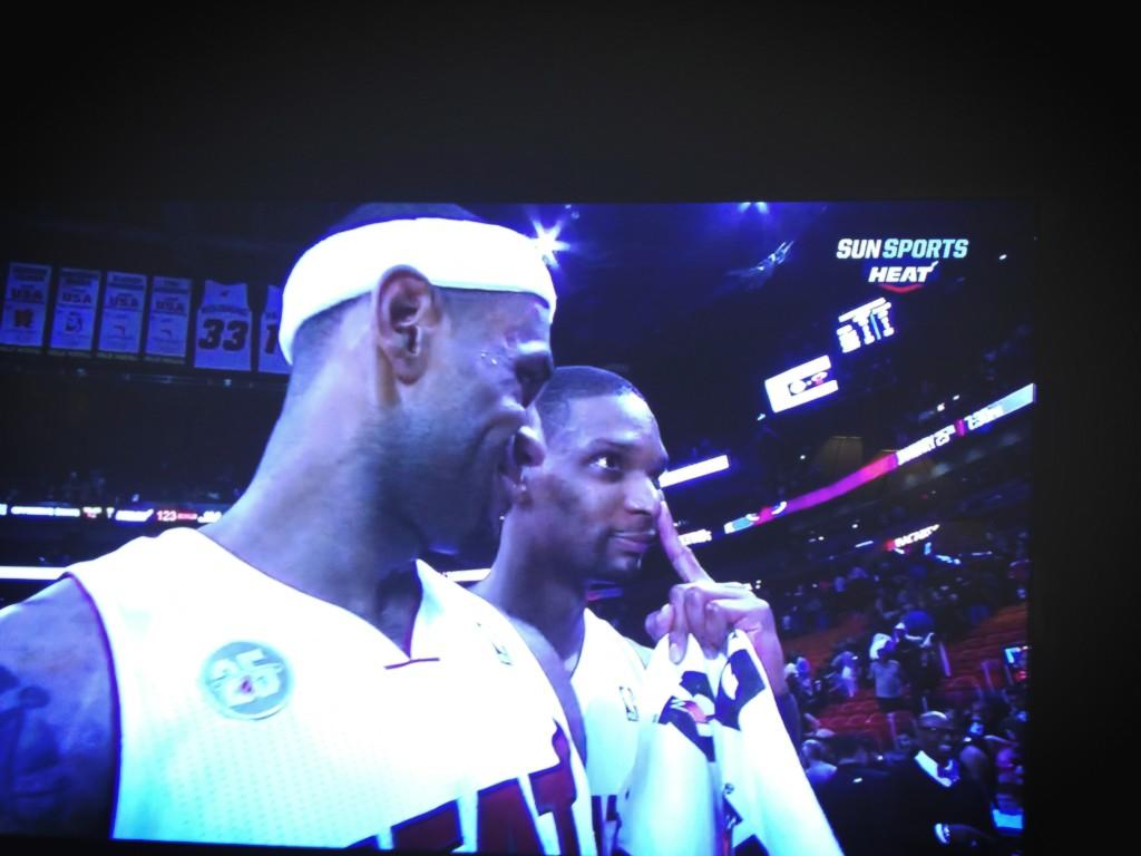 Chris Bosh videobombs LeBron James
