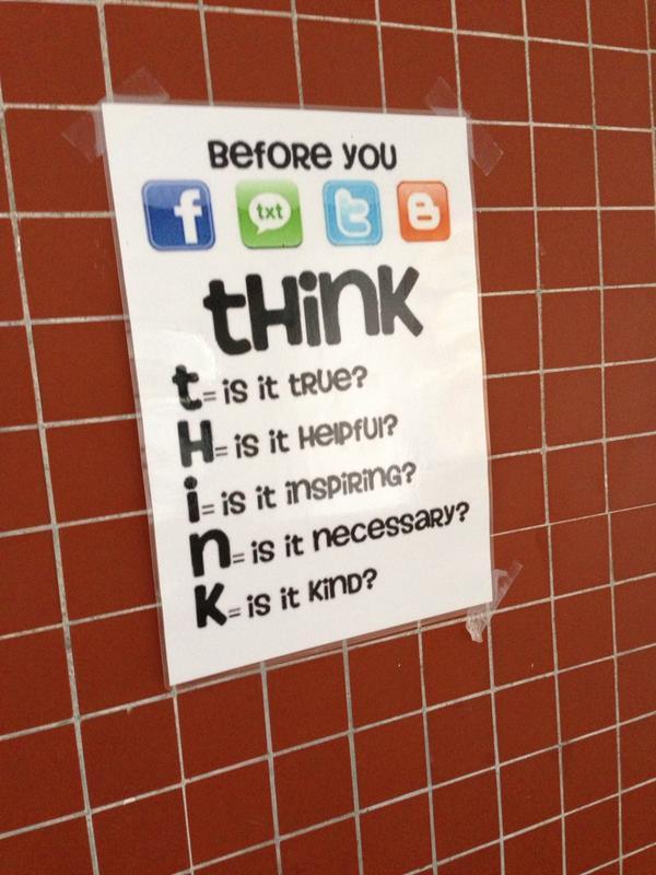 T.H.I.N.K. - useful social media etiquette rules