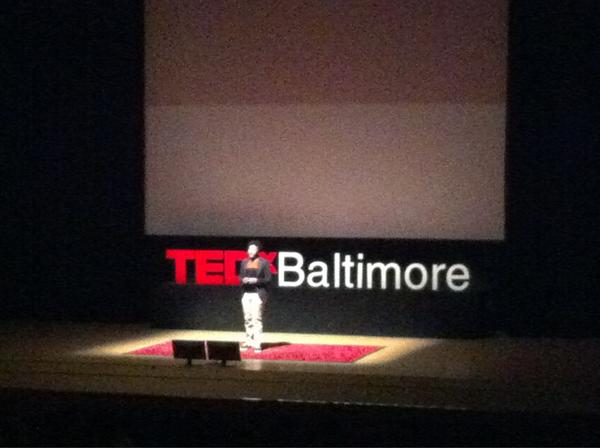 RoboDoves robotics team member Keimmie Booth up now at #TEDxBaltimore. More on the RoboDoves: http://technicallybaltimore.com/news/robodoves-western-high-schools-all-women-robotics-team-secures-spot-at-vex-world-championship-video/ http://pic.twitter.com/BGpPlCMA