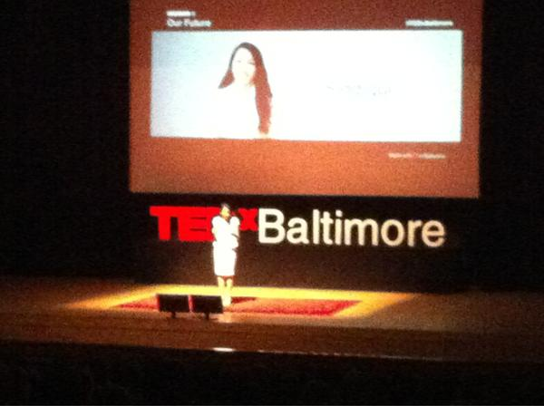 Noor Siddiqui, 18-year-old Thiel Fellow now speaking at #TEDxBaltimore. http://pic.twitter.com/SFNqnaH7