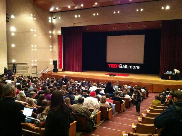 RT @technicallyBMR: . @TEDxBaltimore at @MorganStateU getting ready to pop off. Pow. #TEDxBaltimore http://pic.twitter.com/wC1Q9q08