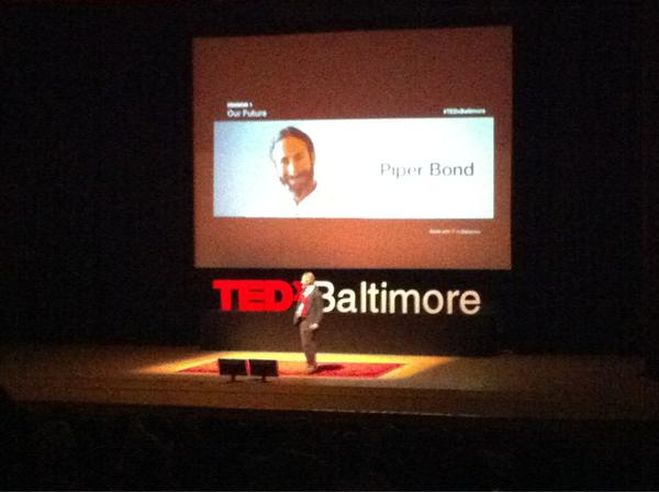 Next up at #TEDxBaltimore: James Piper Bond of Living Classrooms. http://pic.twitter.com/wHYBViUz