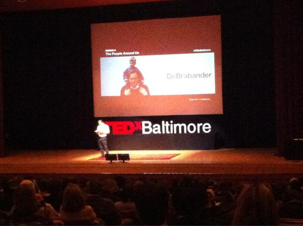 Session 2 at #TEDxBaltimore begins with MICA's Firmin DeBrabander. Talking about #GunControl and #GunRights http://pic.twitter.com/xa4Dm217
