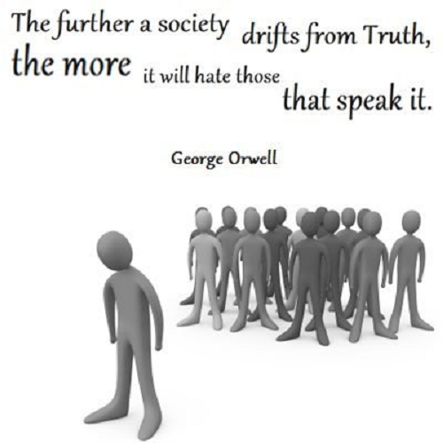 Image result for pics of george orwell the further a society drifts