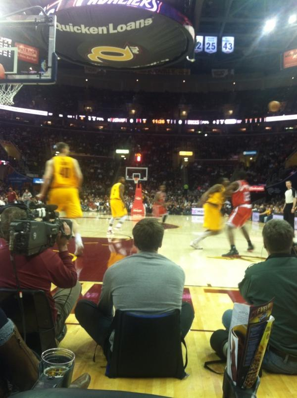 Bryan Lerg On Twitter Floor Seats At The Cavs Game W