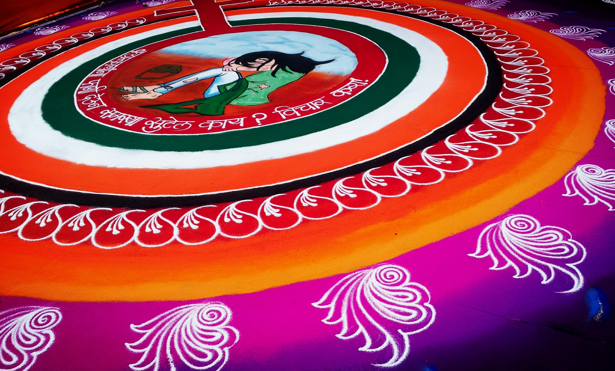 "Arun Wilson on Twitter: ""Amazing rangoli design. Theme ...