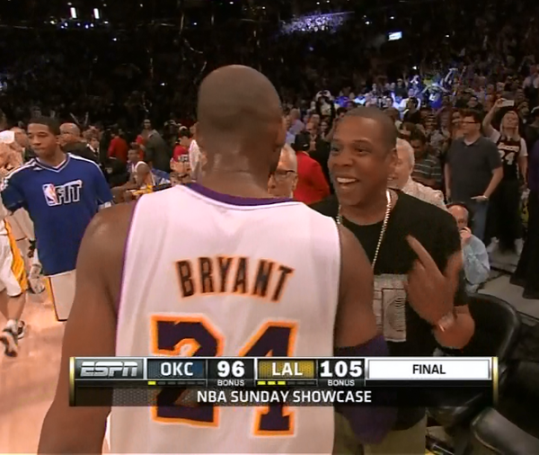 Jay-Z Kobe Lakers Game