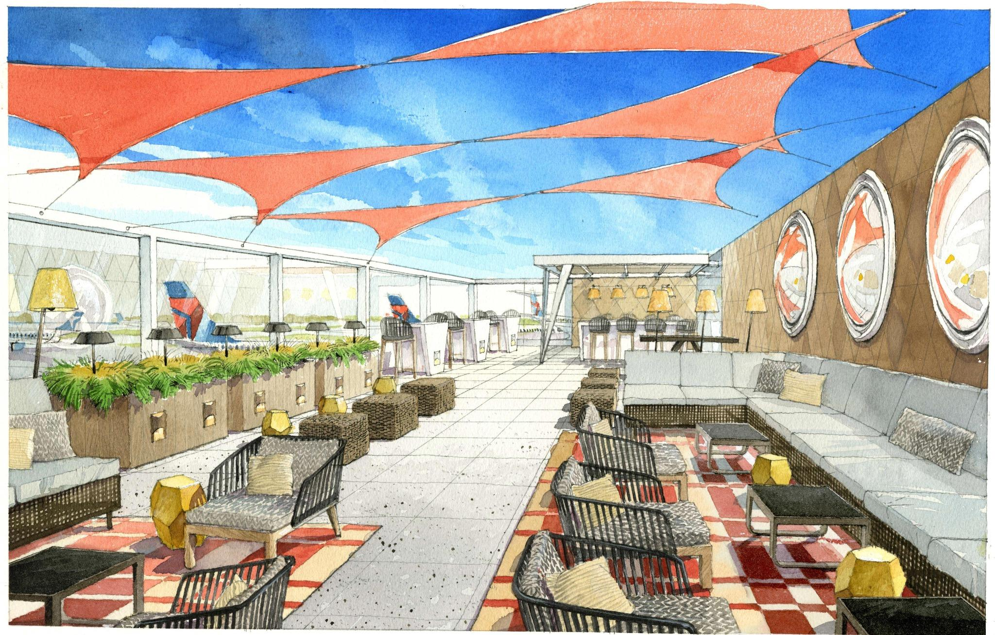 A domestic US lounge concept that's actually exciting: Delta's Sky Deck!