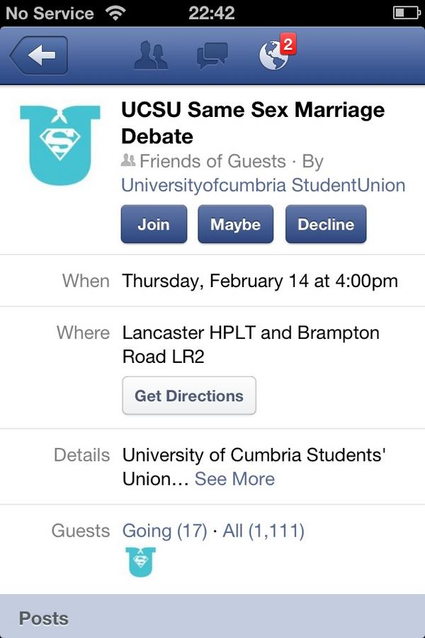 UCSU Same-Sex Marriage Debate