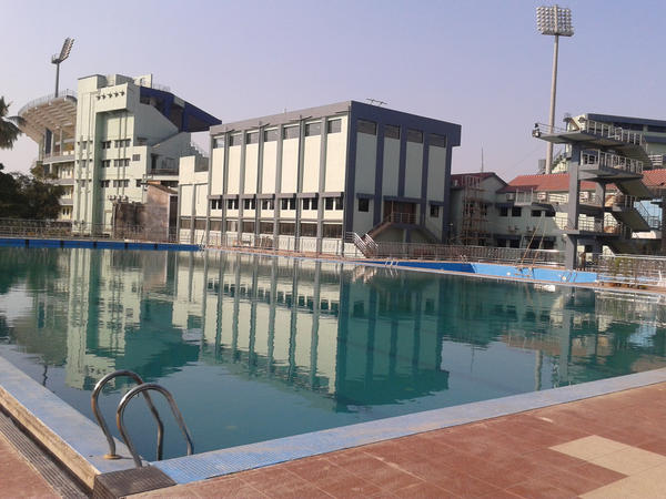 just been sent photos of the orissa cricket assn club where pak girls are staying- tweeting some-this is view from room http://pic.twitter.com/45amxszp