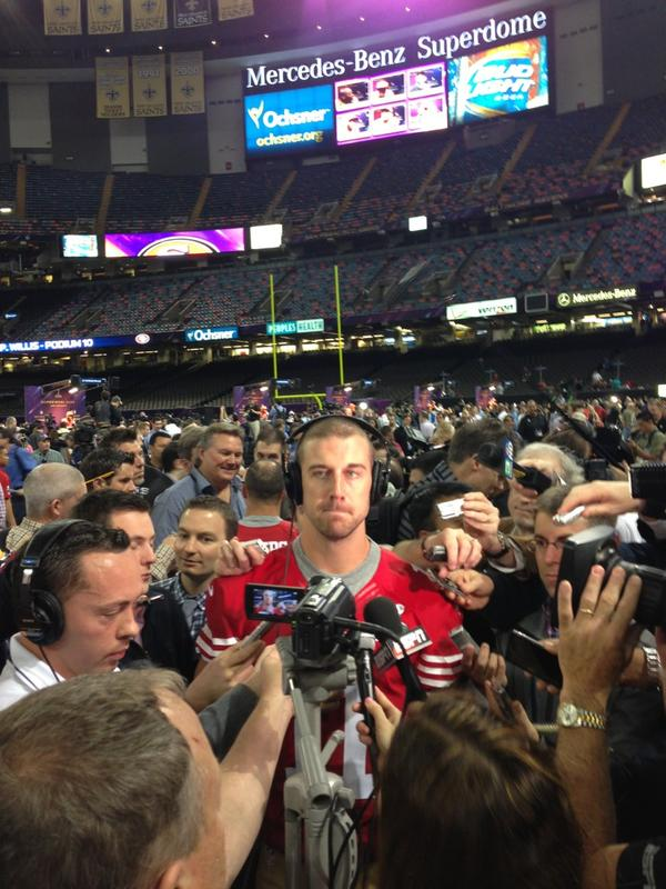 Thumbnail for The many faces of Alex Smith at Super Bowl Media Day