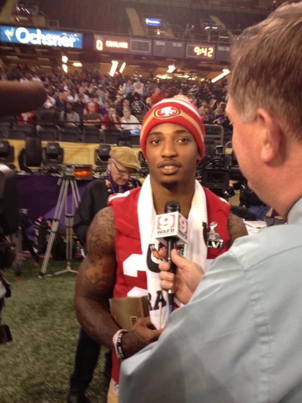 RT @josephperson: Former Gamecock CB and Raleigh guy Chris Culliver. http://pic.twitter.com/SPXX94OF