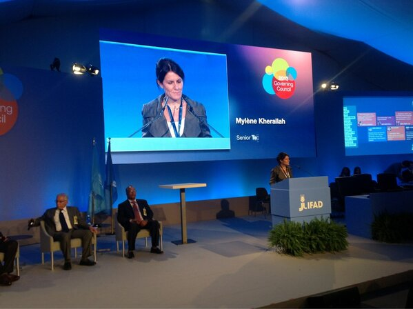 #Ifad Mylene Kherallah opening panel discussing the power and potential of private-public partnerhsip #ifadgc http://pic.twitter.com/fyIUtl08