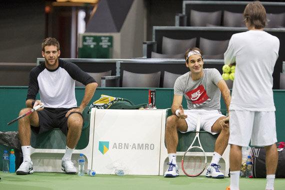 Delpo y Roger entrenan Rotterdam '13