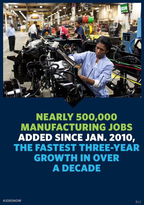 "Obama: ""Our first priority is making America a magnet for new jobs and manufacturing."" #polqcusa #SOTU http://pic.twitter.com/lJRJ1tZq"
