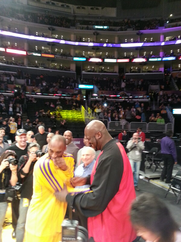 Twitter / DuranSports: Shaq making Kobe laugh before ...