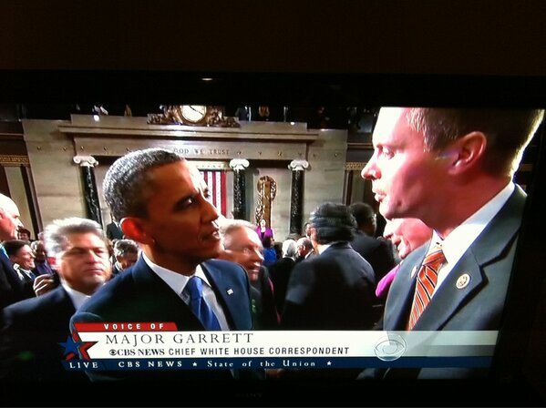 Speaking with President Obama after the #SOTU address tonight http://pic.twitter.com/aCT79l0L