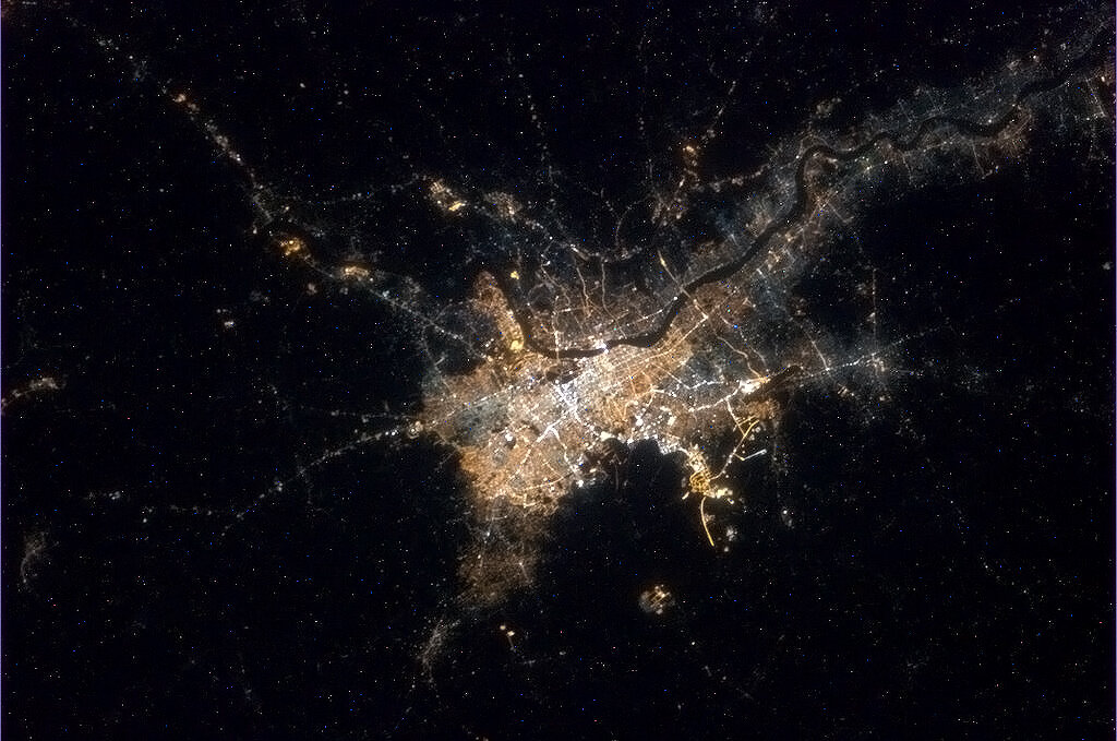 Kolkata, India from space.