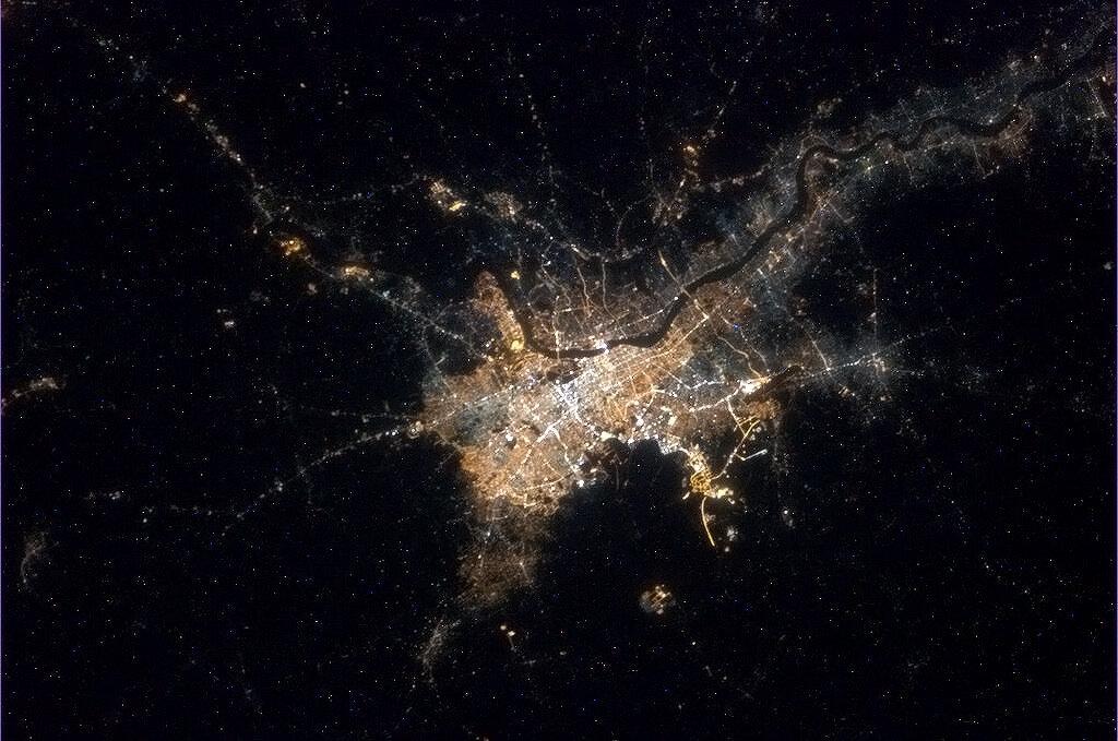 Kolkata, India from space.