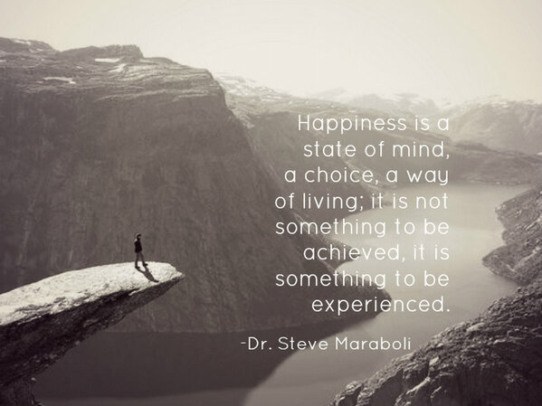 Steve Maraboli On Twitter Happiness Is A State Of Mind A Choice