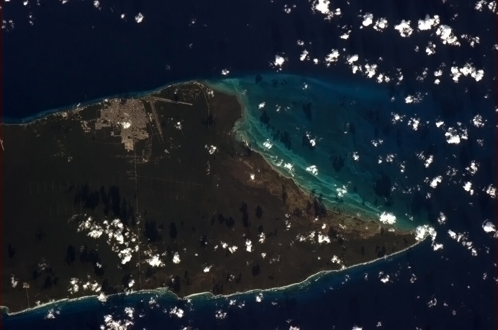 Cozumel, Mexico from space.