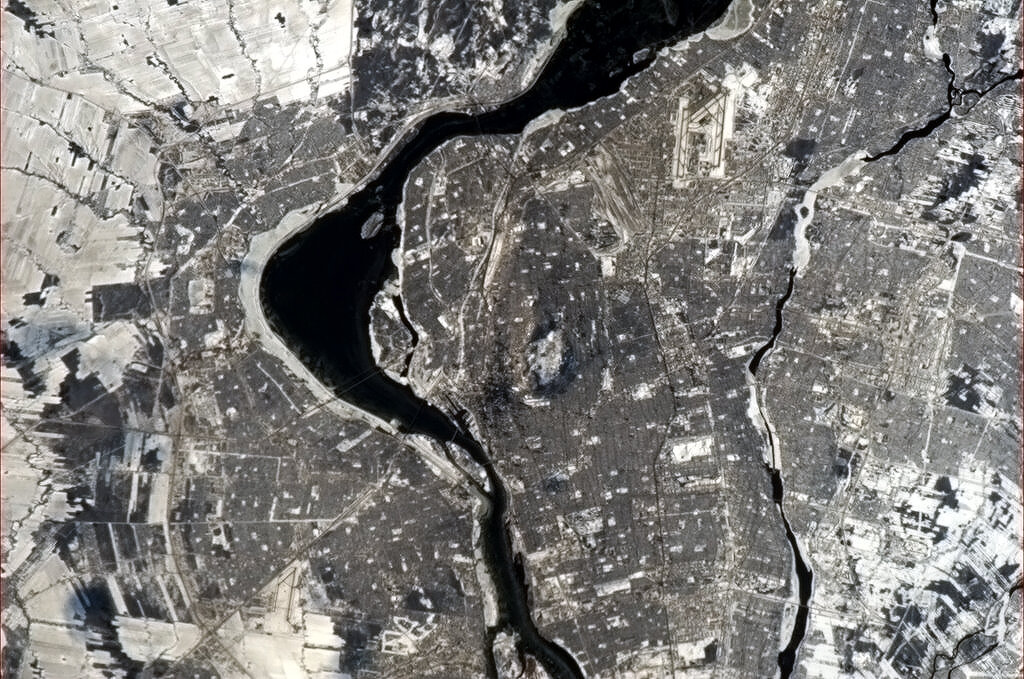 My hometown of Montreal, taken from space.