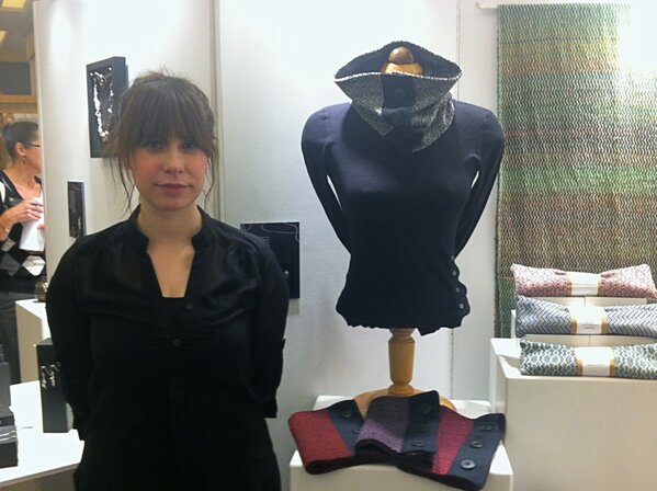 3rd yr @NBCCDLive student Holly McGee works with tree fibre and natural wools to create her wearable pieces. #ACTS http://pic.twitter.com/Le6DdXRG