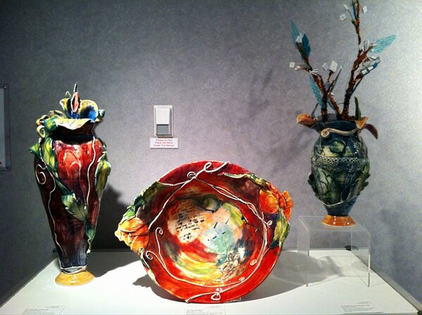 NB artist Wendy Johnston's pieces in the Gallery@ACTS exhibit. In the centre is The Letter Bowl. #ACTS http://pic.twitter.com/nT4u3a9q