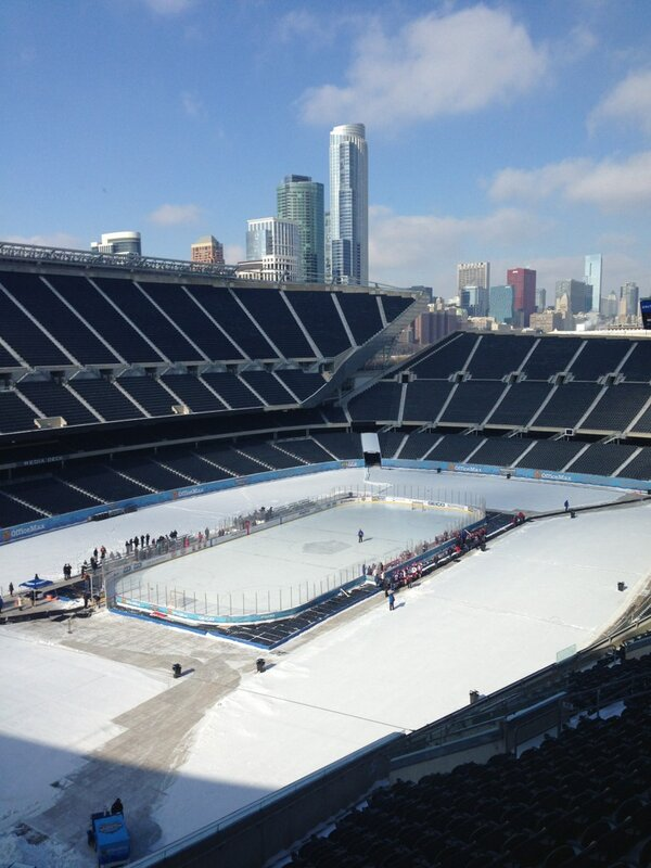 Great view of the city with the rink today for the outdoor game in 2 weeks. #Badgerhockey http://pic.twitter.com/FdI4EiCC