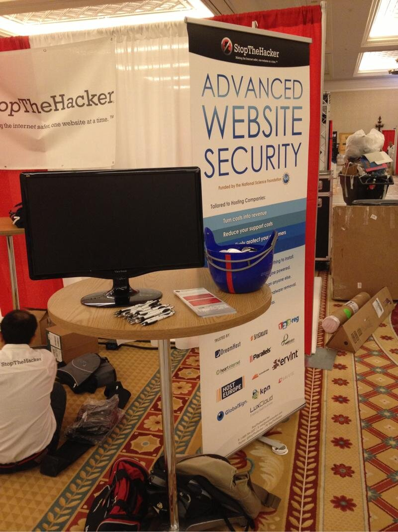 Twitter / stopthehacker: Setting up the booth for ...