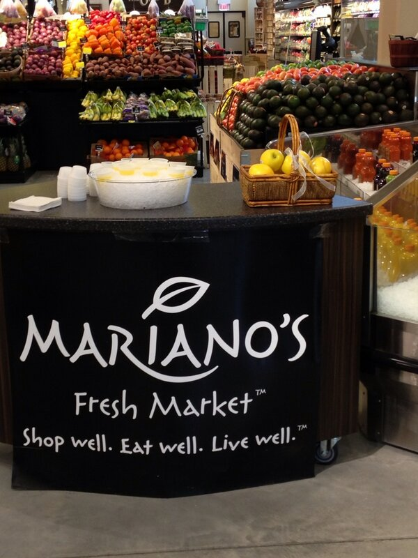 Excited to be doing a floral arrangement @marianosmarket - sponsor of upcoming Chicago flower and garden show. http://t.co/L6Hlc3Ak