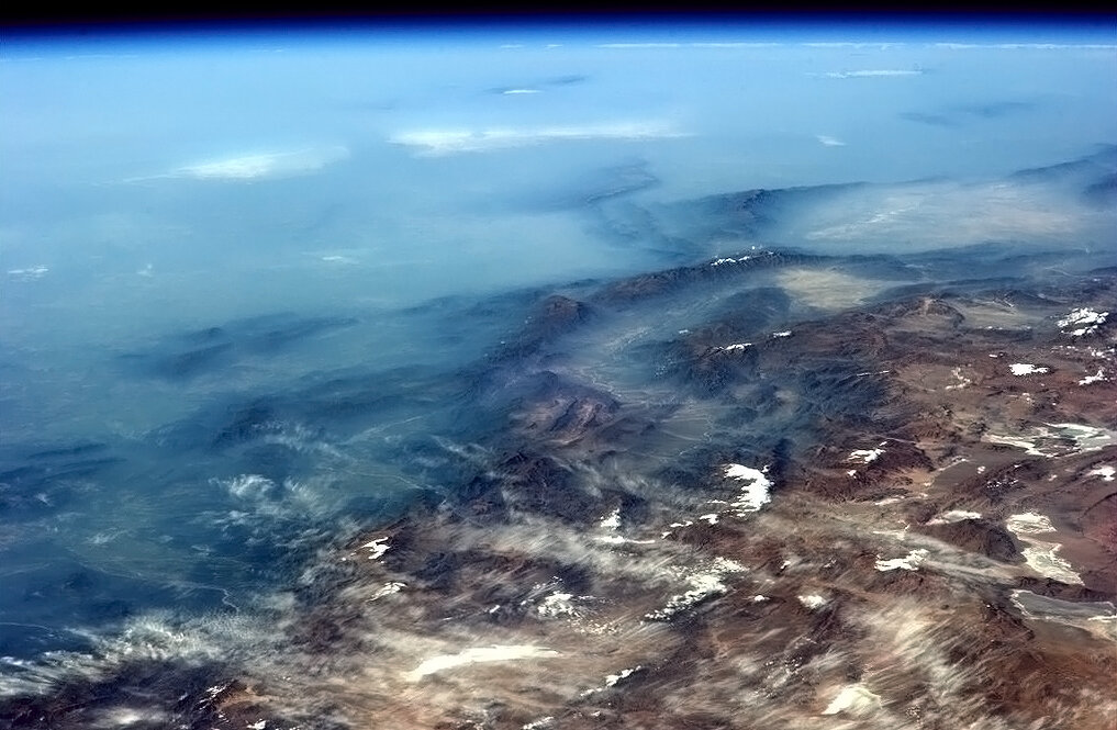 The andes from space
