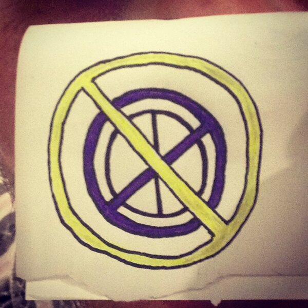 Josh Reichmann On Twitter Crossed Out Peace Sign Which Is Crossed