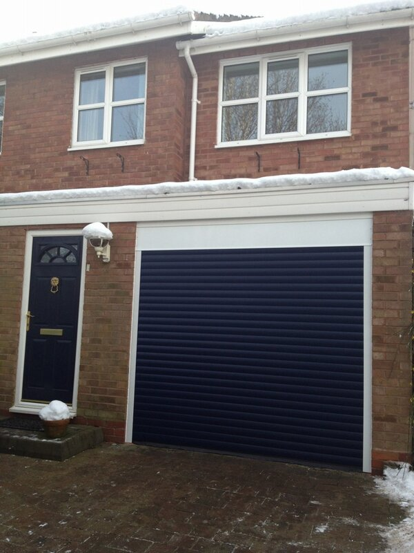 "Ryan Gallear on Twitter ""Navy Blue Roller Garage Door"